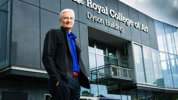 Dyson Starting Infront Of The Building Which Is Named After Him At RCA