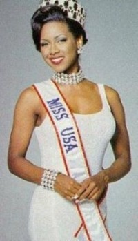 Kenya Moore with Miss USA Crown in 1993