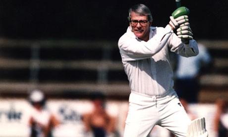 John Major Playing Cricket