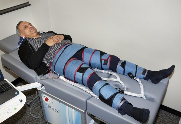 Manoj Bhargava with His External Counter Pulsation Machine