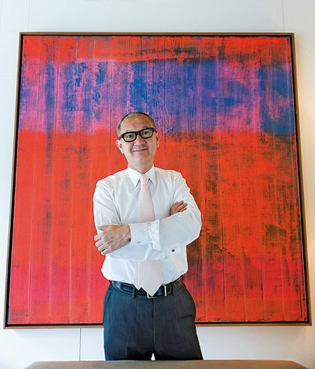 Pierre Chen with His Art Collection