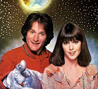 Pam Dawber and Robin Williams in Mork and Mindy