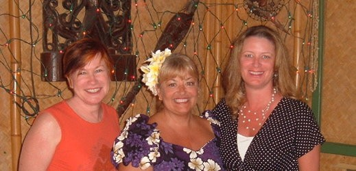Christina Dodd, Jill Marie Landis, and Kristin Hannah in Hawaii