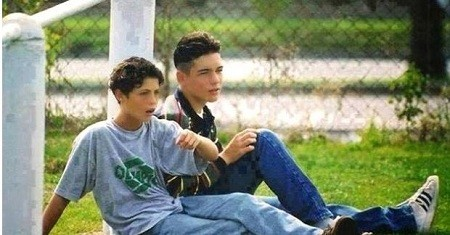 Ronaldo and His Friend in His Childhood