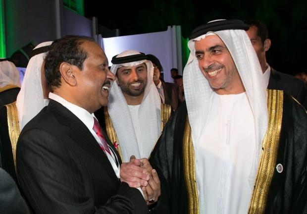 Yusuff With Sheikh Saif bin Zayed Al Nahyan