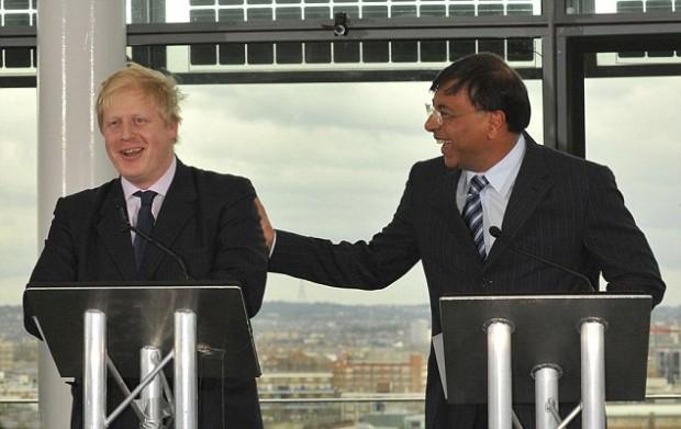 Mittal with London Mayor Boris Johnson