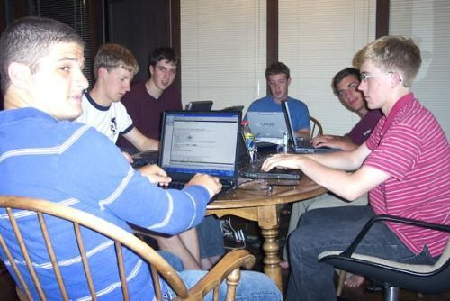 Zuckerberg with His Friends in His College Days