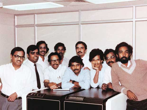 Narayana Murthy with Other Infosys Founders