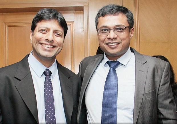 Sachin Bansal with Amit Agarwal
