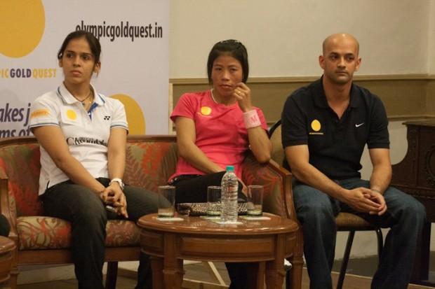 Saina along with Boxing World Champion Mary Kom