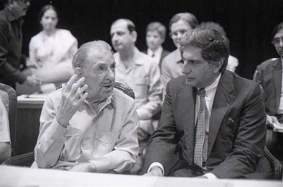 J.R.D. Tata at TATA With Ratan TATA