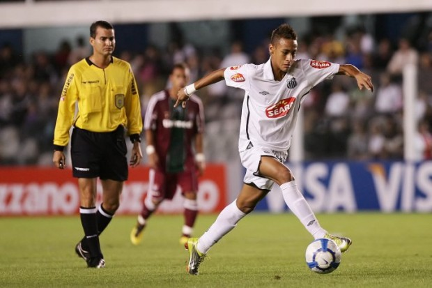 Neymar Playing for Santos FC