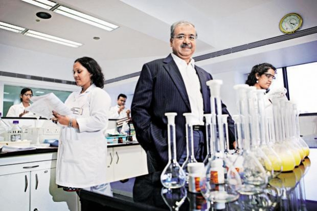 Dilip Shanghvi at Sun Pharma Lab