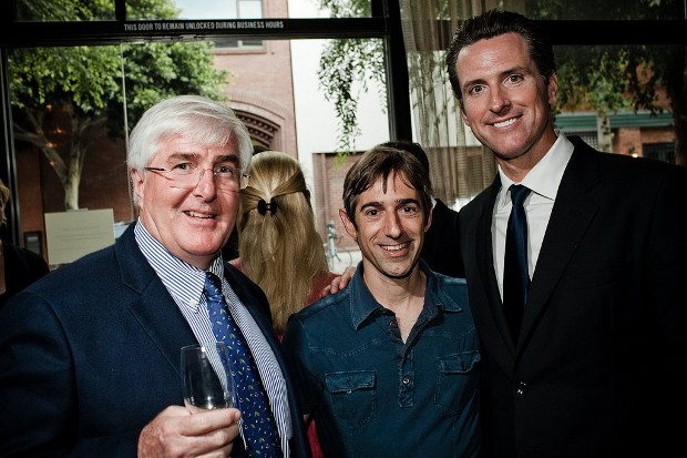 Mark Pincus With Ron Conway,Gavin Newsom,