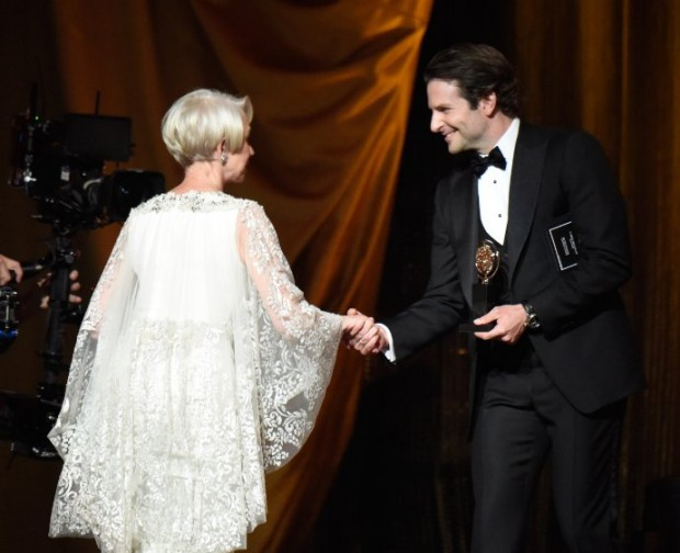 Helen Mirren and Bradley Cooper at Awards Ceremony