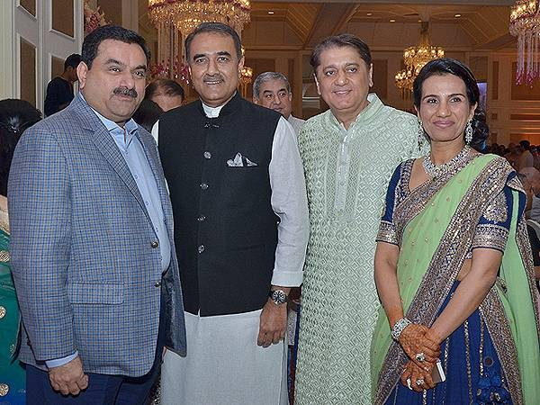 Gautam Adani at ICICI CEO Chanda Kochhar's Daughter Wedding