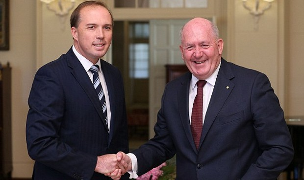 Peter Dutton With  Governor-General Peter Cosgrove