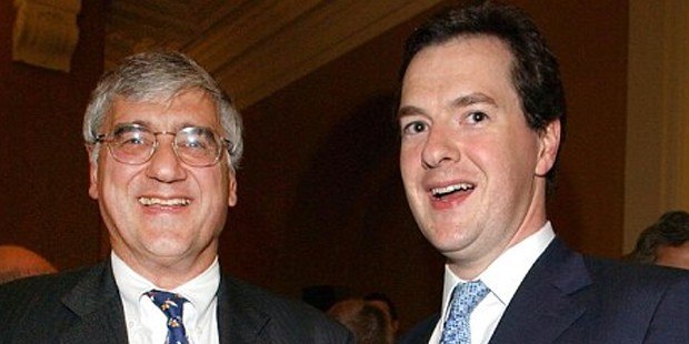 Michael Hintze and Chancellor George Osborne