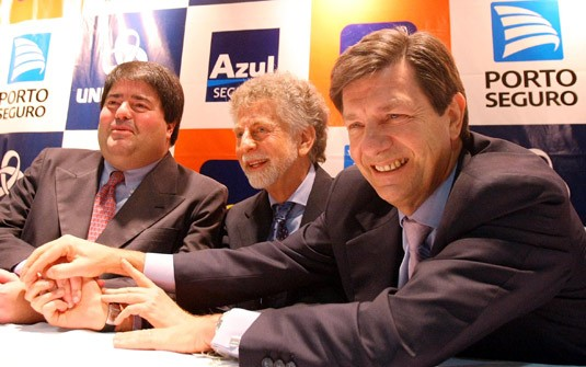 Pedro Moreira Salles, Jayme Garfinkel and Roberto Setubal