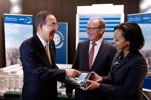 With U.N. Secretary-General Ban Ki-moon