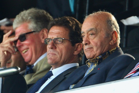 Mohamed Al-Fayed At Fulham v West Ham United Match