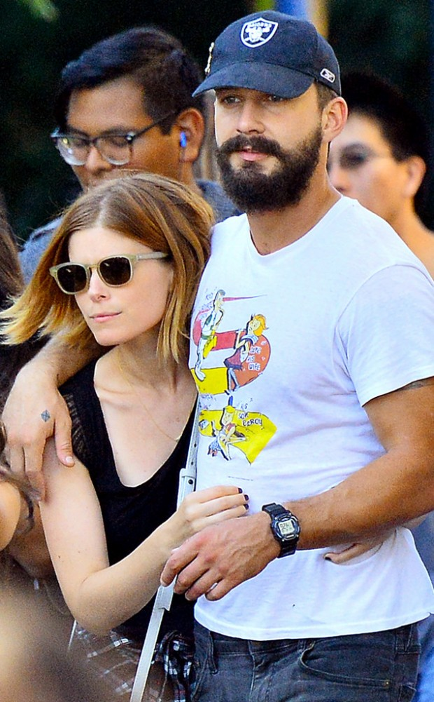 Shia LaBeouf With Kate Mara