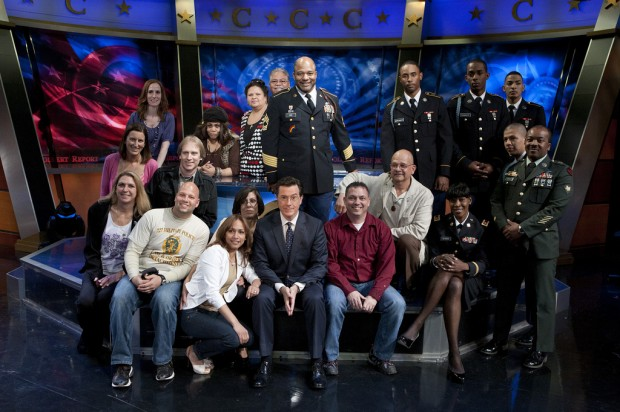 Stephen Colbert with Colbert Report Team