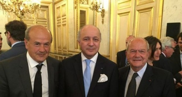 Marc Ladreit of Lacharriere  with Laurent Fabius, Minister of Foreign Affairs