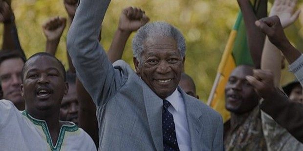 Freeman as Nelsom Mandela in the Bio-pic titled Invictus
