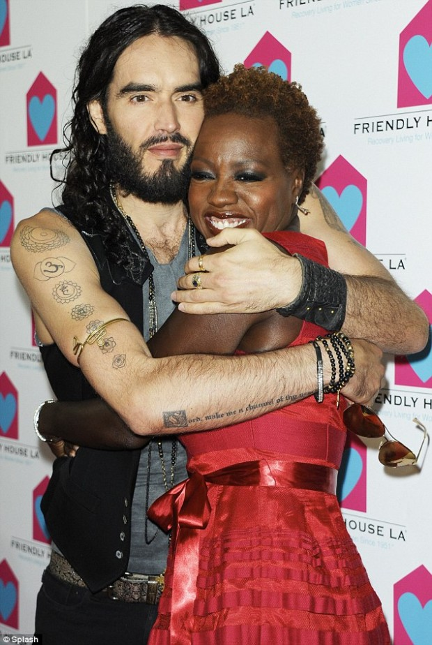 Viola Davis With Russell Brand