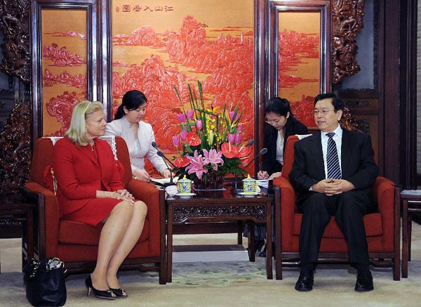 Ginni Rometty With Chinese Vice Premier Zhang Dejiang
