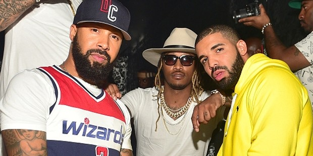 Kenny Burns rapper Future and Drake attend at Compound