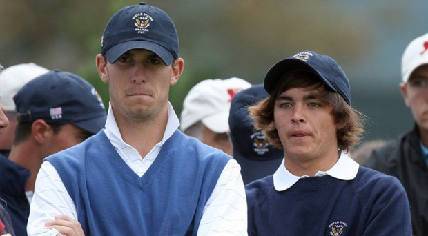 Billy Horschel with Rickie Fowler During Walker Cup