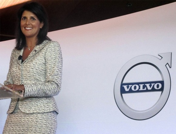 Nikki Haley helped Welcome Volvo to the Charleston Region