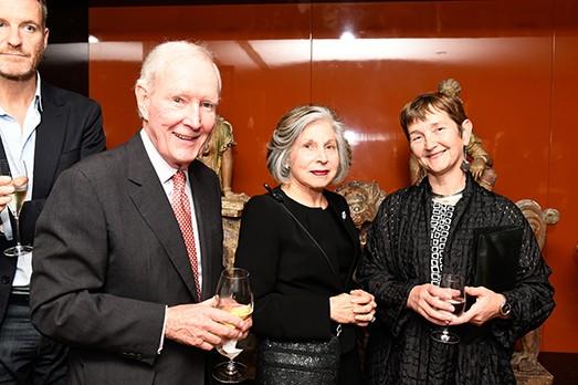 Ron McAulay, Rita McAulay, Frances Morris