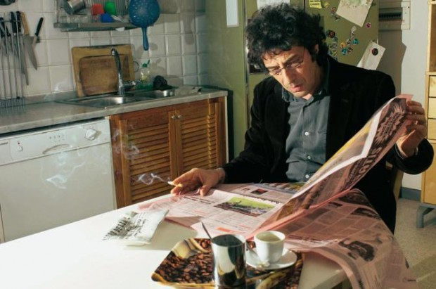 Sandro Veronesi Working On a Newspaper