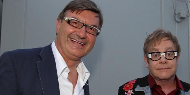 Mario Moretti Polegato With Elton John