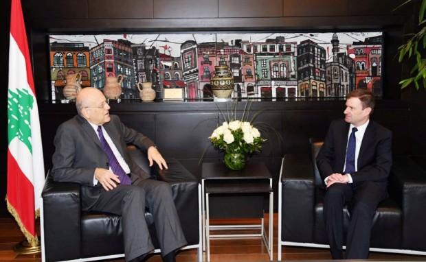 Najib Azmi Mikati meets David Hale