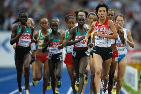 Mary Jepkosgei Keitany of Kenya in Action