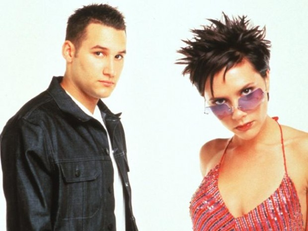 Dane Bowers and Victoria Beckham Posing for Their Album