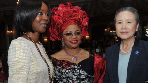 Folorunsho Alakija  Founder of Rose of Sharon Foundation at the Fashion 4 Development