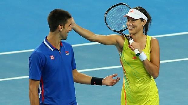 Novak Djokovic and Ana Ivanovic