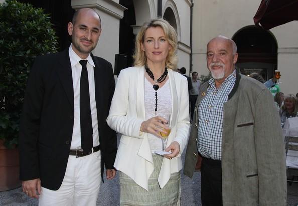 Paulo Coelho with Maria Furtwaengler-Burda, Dominik Wichmann