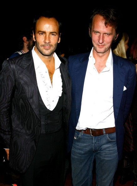 Fashion designer Tom Ford (L) and Tobias attend 'Greeting Card'