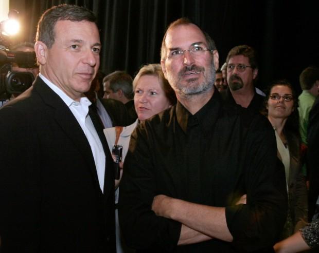 Disney CEO Bob Iger With Steve Jobs