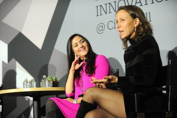 Cindy Whitehead (L) and 23andMe CEO Anne Wojcicki speak onstage during 'The Fast Company Innovation Festival