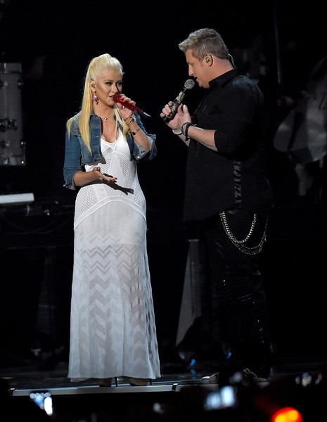 Christina Aguilera with Gary LeVox