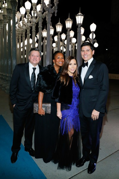 Monique Lhuillier, Tom Bugbee, Ted Sarandos along with Nicole Avant