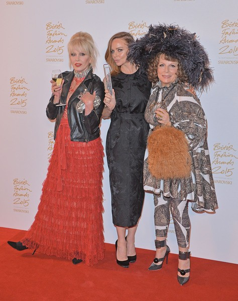 Joanna Lumley, Stella McCartney with Jennifer Saunders