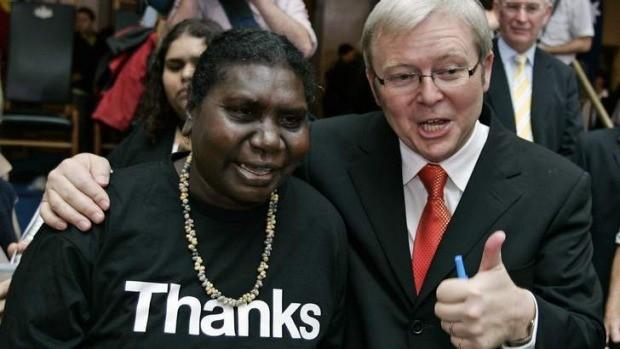 Prime Minister Kevin Rudd meets with Raymattja Marika